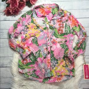 Lilly Pulitzer for Target Nosie Posie Floral Top